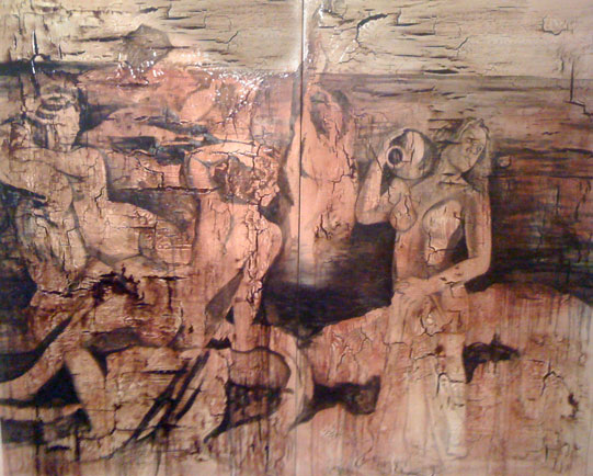 "Figure Study 6 [2010] [Oil and tar on canvas] [60"" x 72""] [109]"