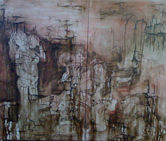 "Figure Study 8 [2010] [Oil and tar on canvas] [60"" x 72""] [111]"