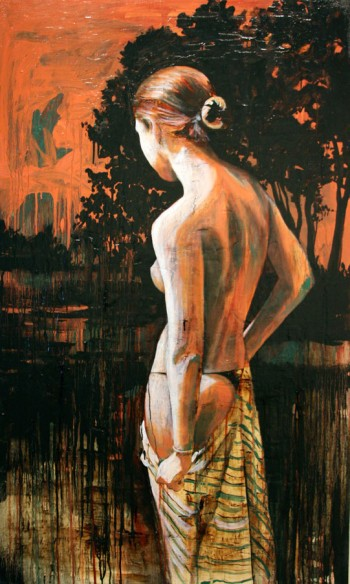 "Muse [2009] [Oil and tar on canvas] [60"" x 36""] [112]"